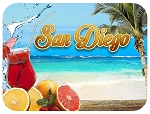 San Diego with Cocktails Fridge Magnet