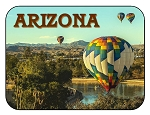 Arizona with Hot Air Balloons Fridge Magnet