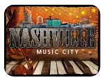 Nashville Music City Fridge Magnet