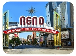 Reno Nevada The Biggest Little City in the World Fridge Magnet