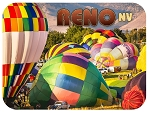 Reno Nevada with Hot Air Balloons Fridge Magnet