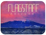 Flagstaff Arizona with San Francisco Peaks Fridge Magnet