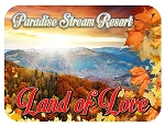 Paradise Stream Resort Land of Love Fridge Magnet