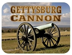 Gettysburg Pennsylvania with Cannon Fridge Magnet