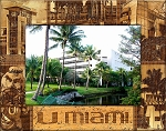 University of Miami Engraved Wood Picture Frame