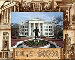 University of Mississippi Engraved Wood Picture Frame (5 x 7)