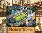 University of North Texas Laser Engraved Wood Picture Frame (5 x 7)