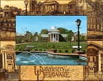 University of Delaware Laser Engraved Wood Picture Frame