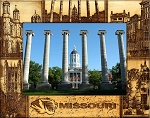 The University of Missouri Laser Engraved Wood Picture Frame (5 x 7)