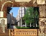 Northwestern University Laser Engraved Wood Picture Frame