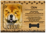 Chow Engraved Wood Picture Frame Magnet