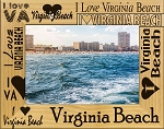 I Love Virginia Beach Laser Engraved Wood Picture Frame