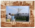 Milwaukee Wisconsin Laser Engraved Wood Picture Frame (5 x 7)