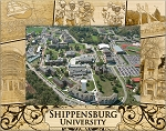 Shippensburg University Laser Engraved Wood Picture Frame