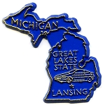 Michigan State Outline Fridge Magnet
