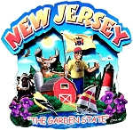 New Jersey the Garden State Artwood Montage Fridge Magnet