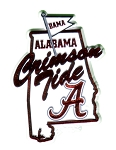 Alabama Crimson Tide State Outline Fridge Magnet-NCAA