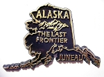Alaska State Outline Fridge Magnet