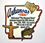 Arkansas Montage Fridge Magnet Design 4