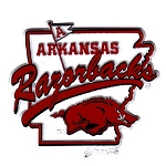 Arkansas Razorbacks State Outline Map Fridge Magnet-NCAA
