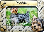 Yorkie Picture Frame Fridge Magnet