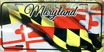 Maryland Flag Design License Plate