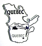 Quebec White Souvenir Fridge Magnet