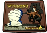 Wyoming Cheyenne Multi Color Fridge Magnet