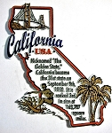 California Outline Montage Fridge Magnet Design 4