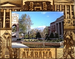 University of Alabama Laser Engraved Wood Picture Frame (5 x 7)