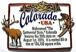 Colorado State Outline Montage Fridge Magnet Design 4