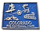 Colorado The Centennial State Map Fridge Magnet