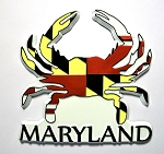 Crab with Maryland Fridge Magnet