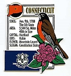 Connecticut The Constitution State Montage Fridge Magnet