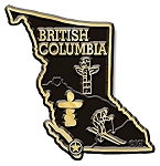 British Columbia Map Fridge Magnet