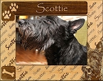 Scottie Laser Engraved Wood Picture Frame