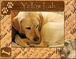 Yellow Lab Laser Engraved Wood Picture Frame