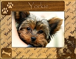 Yorkie Laser Engraved Wood Picture Frame
