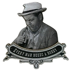 Otis from Mayberry Every Man Needs A Hobby Artwood Fridge Magnet