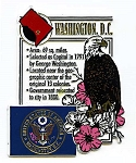 Washington D.C. Square Montage Fridge Magnet