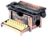 Old Time Typewriter Die Cast Metal Collectible Pencil Sharpener