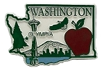 Washington Olympia 4 Color Fridge Magnet