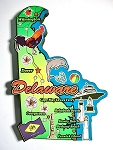 Delaware State Outline Decowood Jumbo Fridge Magnet Design 10