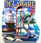 Delaware Montage 2 Level Artwood Magnet Design 27