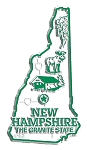 New Hampshire the Granite State Map Fridge Magnet