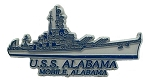 Navy U.S.S. Alabama Fridge Magnet