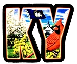 Kentucky The Bluegrass State Artwood Initial Fridge Magnet