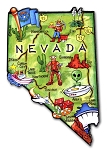 Nevada the Sagebrush State Artwood Jumbo Fridge Magnet