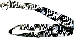 Maryland Flag Greyscale Lanyard