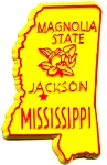 Mississippi The Magnolia State Fridge Magnet